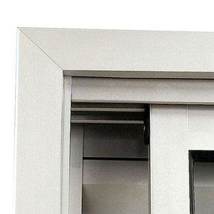 Guarnição Alumínio para Janela de Correr Sasazaki 1,00m x 2,00m Branca Branco