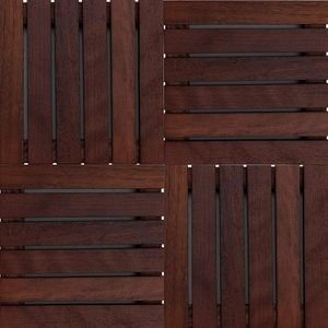 Deck de Madeira Modular Base Madeira Isabela Revestimentos 30cmx30cm (Placa) Madeira de Lei Mista