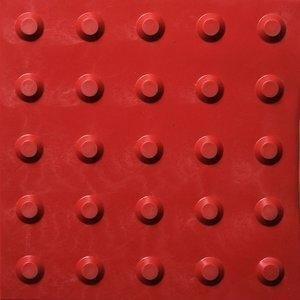Piso Vinílico Tátil Alerta Isabela Revestimentos 3mm x 25cm x 25cm (m²) Vermelho